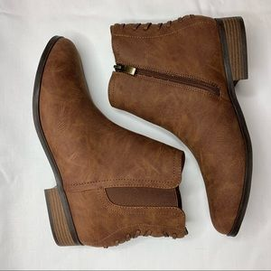 Limelight Dylan Cognac Lace Up Ankle Boots